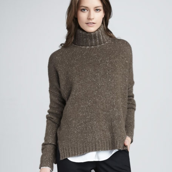 9cd3bf5081501 Vince black wool silk cashmere turtleneck sweater.  M 5a6ebd713afbbd3c4fff6064